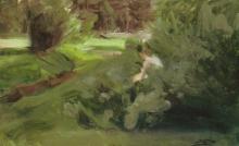 Zorn, Ragazza in un paesaggio boscoso | Flicka i skogslandskap | Girl in a wooded landscape