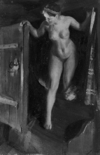 Zorn, Ragazza nuda sulla porta | Nude girl in doorway