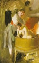 Zorn, Ragazze di Dalarna che fanno il bagno. Studio   Badande kullor i bastun. Studie   Study for Girls bathing in the sauna