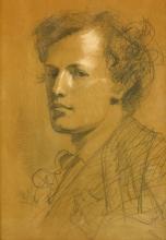 Zorn, Ritratto del compagno di accademia Johan Åkerlund | Porträtt av akademikamraten Johan Åkerlund | Portrait of academy camrade Johan Åkerlund