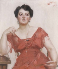 Zorn, Ritratto della signora Dagny Pineus | Porträtt av Fru Dagny Pineus | Portrait of Mrs Dagny Pineus