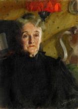 Zorn, Ritratto della signora Mary Morris Hallowell | Porträtt föreställande Mrs Mary Morris Hallowell | Portrait of Mrs Mary Morris Hallowell