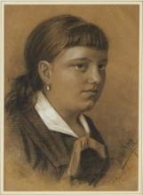 Zorn, Ritratto della signorina Selma Bauer | Porträtt föreställande fröken Selma Bauer | Portrait of Miss Selma Bauer