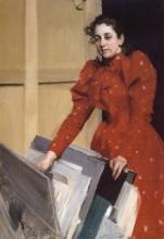 Zorn, Ritratto di Emma Zorn nello studio di Parigi | Porträtt av Emma Zorn i Parisateljen | Portrait of Emma Zorn in the Paris studio