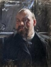 Zorn, Ritratto di Johan Christian Janzon | Porträtt av Johan Christian Janzon | Portrait of Johan Christian Janzon