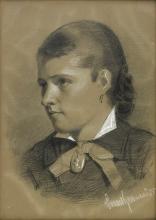 Zorn, Ritratto di Johanna Bauer | Porträtt föreställande fröken Johanna Bauer | Portrait of Miss Johanna Bauer