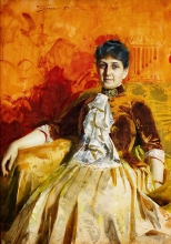 Zorn, Ritratto di Lisen Lamm | Porträtt föreställande Lisen Lamm | Portrait of Lisen Lamm