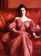 Zorn, Ritratto di Mrs. Howe (nata Deering) | Porträtt av Mrs Howe (née Deering) | Portrait of MrsHowe (née Deering)
