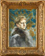 Zorn, Ritratto di Mrs. Mackenzie | Porträtt föreställande Mrs. Mackenzie | Portrait of Mrs. Mackenzie