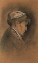 Zorn, Ritratto di donna di profilo | Porträtt av kvinna i profil | Portrait of woman in profile