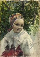 Zorn, Ritratto di una ragazza   Portrait of a girl