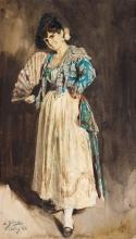 Zorn, Spagnola in berretto nero | Spanjorska i svart barett | Spanish lady in black beret