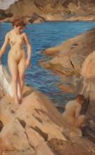 Zorn, Studio dell'arcipelago con due nudi | Skärgårdsstudie med två nakna | Study from the archipelago with two nudes