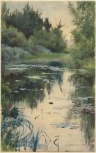 Zorn, Studio di paesaggio di Mora   Landskapsstudie från Mora   Study of landscape from Mora