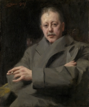 Zorn, Studio per il ritratto di un uomo | Portrait study of a man