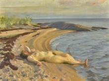 Zorn, Sulla spiaggia | På stranden | On the beach