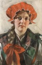 Zorn, Svärdsjö. Ritratto di ragazza | Svärdsjö. Flickporträtt | Svärdsjö. Portrait of girl