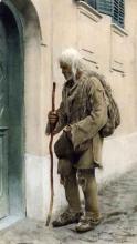 Zorn, Un mendicante davanti a un porta | En valacktiggare | Beggar standing by door