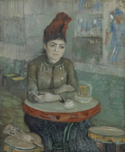 van Gogh, Al caffè: Agostina Segatori nel Tambourin | In het café: Agostina Segatori in Le Tambourin | Au café: Agostina Senatori au Tambourin | In the café: Agostina Segatori in Le Tambourin