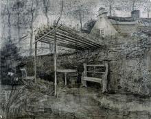 van Gogh, Angolo di giardino | Tuinhoek | Coin de jardin | Corner of a garden