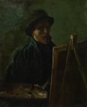 van Gogh, Autoritratto da pittore | Zelfportret als schilder | Autoportrait au chevalet | Self-portrait as a painter