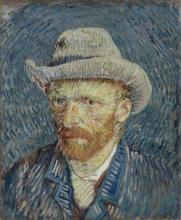 van Gogh, Autoritratto con cappello di feltro grigio   Zelfportret met grijze vilthoed   Autoportrait au chapeau de feutre gris   Self-portrait with grey felt hat