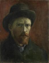 van Gogh, Autoritratto con cappello di feltro | Zelfportret met vilthoed | Autoportrait au chapeau de feutre | Self-portrait with felt hat