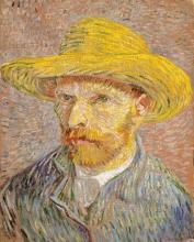 van Gogh, Autoritratto con cappello di paglia   Autoportrait au chapeau de paille   Self-portrait with a straw hat   Zelfportret met een strohoed