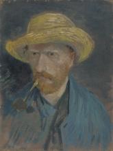 van Gogh, Autoritratto con cappello di paglia e pipa | Zelfportret met strohoed en pijp | Autoportrait au chapeau de paille et à la pipe | Self-portrait with straw hat and pipe