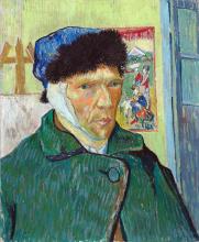 van Gogh, Autoritratto con l'orecchio bendato | Autoportrait avec l'oreille bandée | Self-portrait with bandaged ear
