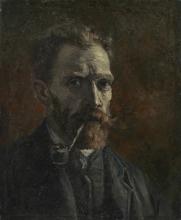 van Gogh, Autoritratto con pipa | Zelfportret met pijp | Autoportrait à la pipe | Self-portrait with pipe