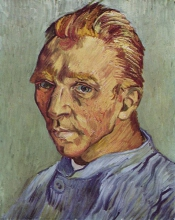van Gogh, Autoritratto senza barba | Portrait de l'artiste sans barbe | Self-portrait beardless