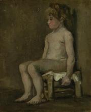 van Gogh, Bambina nuda seduta   Zittend naakt meisje   Fille nue assise  