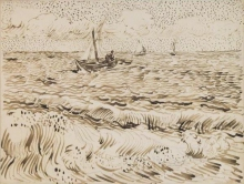 van Gogh, Barche da pesca a Les Saintes Maries de la Mer | Vissersboten aan Les Saintes-Maries-de-la-Mer | Bateaux de pêche aux Saintes-Maries-de-la-Mer | Fishing boats at Saintes-Maries-de-la-Mer