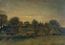 van Gogh, Borgo rurale la sera | Boerendorp in the avond | Village rural le soir | Rural village in the evening