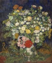 van Gogh, Bouquet di fiori in un vaso   Bouquet de fleurs dans un vase   Bouquet of flowers in a vase