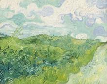 van Gogh, Campi di grano verde, Auvers | Champs de blé vert, Auvers | Green wheat fields, Auvers