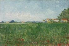 van Gogh, Campo con papaveri    Veld met klaprozen   Champ avec coquelicots   Field with poppies