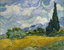van Gogh, Campo di grano con cipressi   Champ de blé avec cyprès   Wheatfield, with cypresses