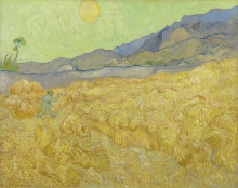van Gogh, Campo di grano con falciatore | Korenveld met maaier | Champ de blé au faucheur | Wheat field with a reaper