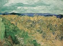 van Gogh, Campo di grano con fiordalisi | Champ de blé aux bleuets | Wheatfield with cornflowers