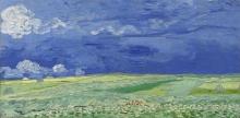 van Gogh, Campo di grano sotto nubi temporalesche | Korenveld onder onweerslucht | Champ de blé sous nuages d'orages | Wheat field under thunderclouds
