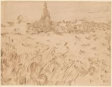 van Gogh, Campo di grano, Saint Remy de Provence | Champ de blé, Saint-Rémy-de-Provence | Wheatfield, Saint-Rémy-de-Provence