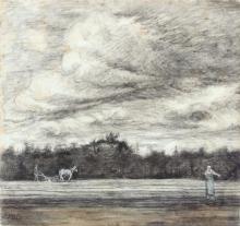 van Gogh, Campo di stoppie sotto un cielo temporalesco    Champ de chaume sous un ciel orageux   Field of stubbles with a thunderstorm overhead