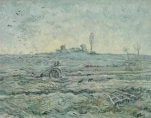 van Gogh, Campo innevato con un erpice (da Millet)   Ondergesneeuwd veld met een eg (naar Millet)   Champ enneigé avec une herse (d'àpres Millet)   Snow-covered field with a harrow (after Millet)