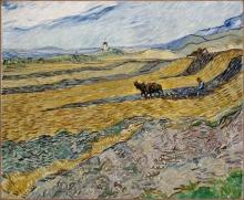 van Gogh, Campo recintato con contadino che ara | Champ clos avec laboureur | Enclosed field with ploughman
