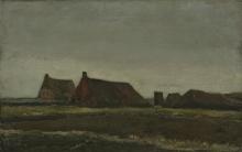 van Gogh, Capanne   Hutten   Chaumières   Thatched cottages