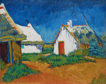 Vincent van Gogh, Capanne bianche a Les Saintes Maries   Cabanes blanches aux Saintes-Maries   White cottages at Saintes-Maries