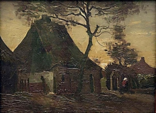van Gogh, Casa di contadini, Nuenen | Boerenhuis, Nuenen | Maison de paysans, Nuenen | Farmhouse, Nuenen