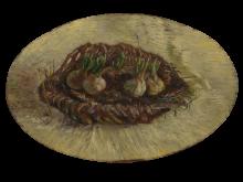 van Gogh, Cestino di bulbi di giacinto | Mand met hyacintbollen | Panier de bulbes de jacinthes | Basket of hyacinth bulbs